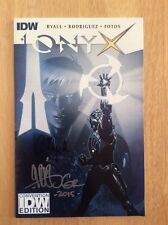SIGNED x2 Gabriel Rodriguez Chris Ryall Onyx #1 Comic IDW Convention Edition Pic