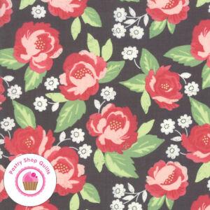 Moda BLOOMINGTON 5110 13 Black Pink Floral LELLA BOUTIQUE Quilt Fabric