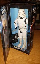 "Starwars Collector Series Sandtrooper 12"" SUPER RARE ERROR. MISSING ORANGE PAD"