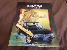 1979 Plymouth Arrow by Mitsubishi (pickup ) Color Brochure Catalog  Prospekt