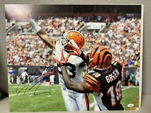 Joe Haden Signed Cleveland Browns 16x20 Photo JSA