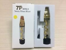 7P Mini2 Smoking Twisty Glass Blunt Pipe Obsolete With Cleaning Kit Gold for pax