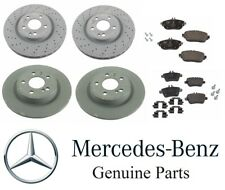Genuine Mercedes CLA250 2014-2017 Front & Rear Disc Brake Rotors and Pads Kit