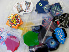 30 DART FLIGHTS- 10 SETS MIXED TYPE COLOUR AND PATTERNS FREE POST