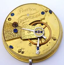 1800s Antique Fine Mechanical Pocket Watch Movement  Pearce Grantham LAYBY AVAIL