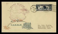 DR WHO 1928 UTICA NY FIRST FLIGHT AIR MAIL CAM 20 C196116