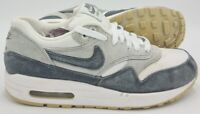 Nike Air Max 1 Essential Suede Trainers 599820-108 White/Grey UK5/US7.5/EU38.5