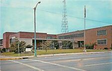 Cordele Georgia~Radio Tower? Behind County Courthouse~Green Light Pole~1960s