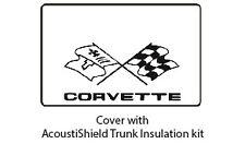 1968 1982 Chevy Corvette Trunk Rubber Floor Mat Cover w/ G-036 Corvette Script