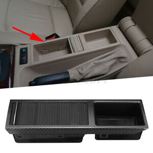 For BMW 3 E46 1998-2006 CENTRE CONSOLE TRAY STORAGE INSERT+COVER Carbon 7038323