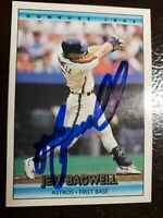 1992 Donruss Jeff Bagwell Auto Autograph Card Signed Astros #358 HOF