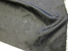 Black Paisley Jacquard Viscose Blend Jacket,Suit,Dress Lining Fabric.