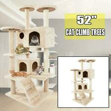 """New listing 52"""" Cat Tree Tower Condo Furniture Scratching Scratch Pet Kitty Play House Beige"""