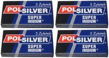 20 Polsilver Super Iridium double edge razor blades