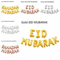 RAMADAN MUBARAK Eid Mubarak Gold Silve Foil Balloons Festival Party Event Decor