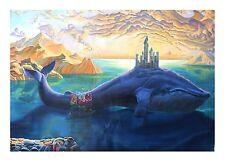 "Eugene Poliarush ""Atlantis"" Original oil on canvas Unframed Ocean Whale Surreal"