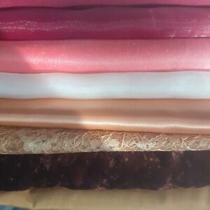 Job lot 10 metres fabric cotton voille satin quilting face masks crafts sewing C