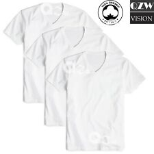 New 3 Pack Mens 100% Cotton Tagless V-Neck T-Shirt Undershirt Tee White S-XL
