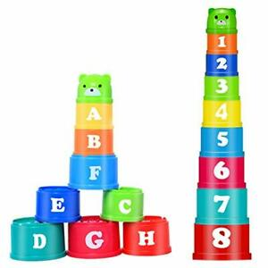 Baby Stacking Toys Stack Up Cups for 6-12 Months Babies Boys Girls