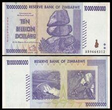 ZIMBABWE 10 Billion Dollars, 2008, P-85, World Currency, 100 Trillion Series