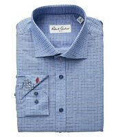 Robert Graham Men's 16 Heaps Check Blue l/s Dress Shirt NEW with tags  nwt