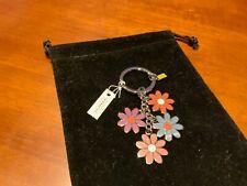 NWT Coach MultiColor/Silver Flower Keychain/Keyring/Keyfob/Charm #69937