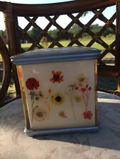 Vintage Acrylic And Pressed Dried Flowers Tissue Box Cover