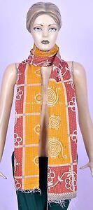 Vintage Kantha Patchwork Scarf Cotton Stole Shawl Handmade Ethnic Women Scarves