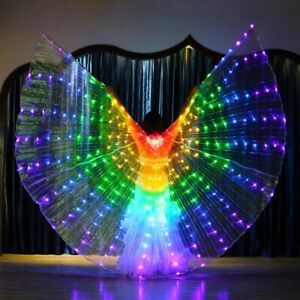 Women LED Isis Wings Costume Egyptian Belly Dance Stage LED Light Up Wings Show