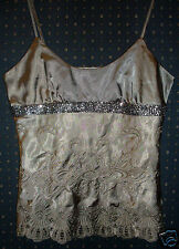 VALLEYGIRL (10) Ladies Beaded Embroidered Evening Singlet Top VG - in Australia.