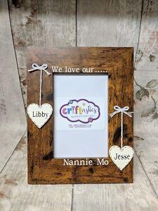 Personalised Nanny 4x6 picture photo frame, Grandma Gran Nan Nanna gift idea