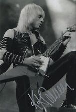 More details for kk downing hand signed 12x8 photo judas priest music autograph