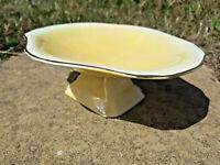 Royal Winton Art Deco Grimwades Pedestal Dish Yellow Lustre 1934+