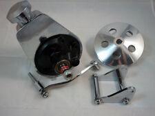 SB Chevy SBC Chrome Saginaw Power Steering Pump Kit W/ Bracket Pump & Pulley