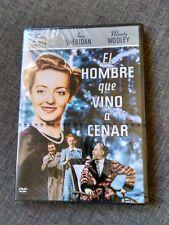 DVD EL HOMBRE QUE VINO A CENAR - BETTE DAVIS - ANN SHERIDAN - SEALED - NEW