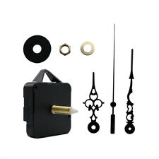 DIY Wall Quartz Clock Movement Mechanism Replacement Tool Parts Set Black Hands