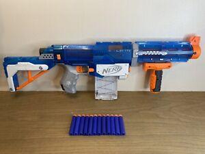 Nerf N-Strike Elite Retaliator Ice Blue W/Barrel, 10-Magazine, Stock & Darts