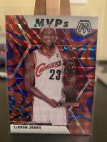 Lebron James 2019-20 Panini Prizm Mosaic MVP Reactive Blue Cavaliers #298.