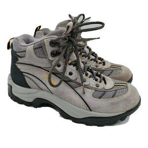 Yukon Hiking Boots Womens Size 8.5 Gray Leather