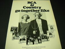 DOTTIE WEST George Jones others AMERICAN GOTHIC style 1972 PROMO POSTER AD mint