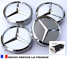 4 logo mercedes caches moyeu jante , centres de roue 60 mm emblème neuf