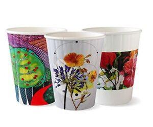 12oz Double Wall Bio Coffee Cup Art Series  1000 pcs