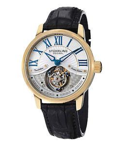 Stuhrling Original Imperial Mechanical Rose Gold & White Tourbillion Watch L.E.