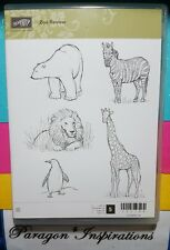 Stampin Up ZOO REVIEW Clear Mount Stamps Animals Zebra Polar Bear Penguin