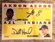 2013 Topps Heritage Minors Danny Salazar Howard Dual Autograph Auto Indians /15