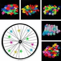 26/36Pcs Plastic Multi Colored Bicycle Wheel Spoke Beads Kids Clip Decoration