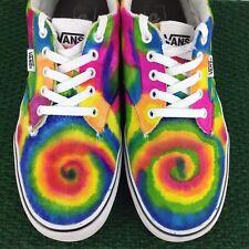 Vans Custom Painted Sharpie Tie Dye Upcycled Sneaker Men's 11 Bright Colorful