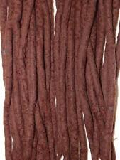Dark Brown dreadlocks - 16 Handmade felted merino wool double ended dreads