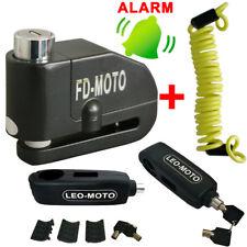 Motorcycle Motorbike Disc Lock Brake Alarm Grip Lock Security + Reminder Cable
