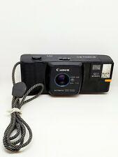 Rare Vintage Black Canon Snappy 20 35mm Film Camera With Strap